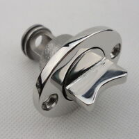 1PC Oval Garboard Drain Plug 316 Stainless Steel Boat For 1'' Hole Thread 3/4''