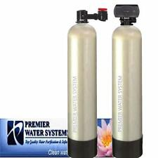 PremierSoft Water Conditioner 12 GPM Backwash Whole house Carbon Filter KDF55