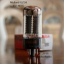 GZ34 MULLARD RCA 5AR4 7 NOTCH COPPER LINED PLATES O GETTER VACUUM TUBE JKPMN