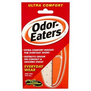 Odour-Eaters Ultra Comfort Insoles   Charcoal Deodorising Layer   Thin Design