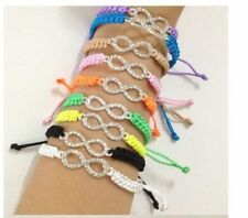 Infinity knot shamballa clasp handmade bracelet silver plated PURPLE