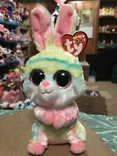 "Ty Lollipop -Pastel Tie-Dyed Swirls Easter Rabbit 6"" Beanie Boo! *New*"