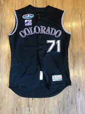 Wade Davis Recorded Save 25th AnniversaryPatch Colorado Rockies Game Used Jersey