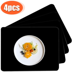 Dadoudou Silicone Placemat Set of 4 Waterproof Non-Slip Heat Resistant Table Pla