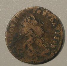 LOUIS XIV  LIARD VIELLE TETE 1699  AIX variété 9sur 7 circula canada /amérique
