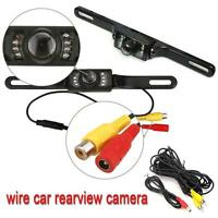 Car Rear View Camera Reversing Backup Parking License Plate Night Vision Cam TE