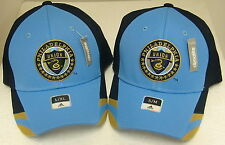 MLS Philadelphia Union Blue Structured Fitted Hat By Adidas