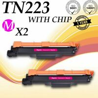 2 PK TN223 Magenta Toner For Brother MFC-L3710CW HL-L3210CW WITH CHIP