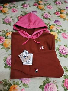 Men's Champion  Reverse Weave Hoodie brown/pink Windbreaker  XL