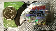 CR 1220 MAXELL LITHIUM BATTERIES 3V Watch 1220 New Authorized Seller
