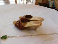 Made In Italy VINTAGE heels leather upper 6M 013-2003 slip ons Women's 37/6 BRN