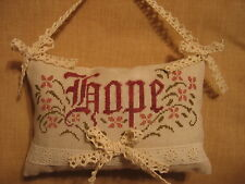 Hope, for Breast Cancer, counted  cross stitch, chart only, new