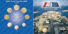 2008 MALTA 8 monete EURO folder ufficiale POSTE maltesi