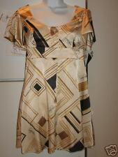 BABY PHAT BABY DOLL DRESS GOLD & BLACK NWT RET $89 SZ 5