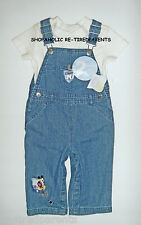 DISNEY BABY – MICKEY MOUSE - OVERALLS & SHIRT - BOY – INFANT – SIZE 3-6 MO – NWT