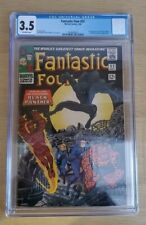 FANTASTIC FOUR #52 CGC 3.5 SLABBED 1ST APPEARANCE OF BLACK PANTHER KEY BOOK