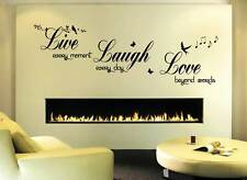 Live Love Laugh** - Wall Quote Sticker - Art Decor  living room hall bedroom