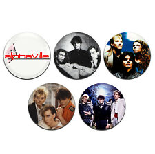 5x Alphaville Synth-Pop New Wave 80s Band 25mm / 1 Inch D Pin Button Badges