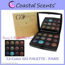 NEW Coastal Scents 12-Color GO PALETTE PARIS Eye Shadow Compact FREE SHIPPING