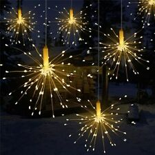 Garland Firework Christmas Lights Outdoor Solar Power Led String Lamp Xmas Decor