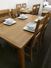 Baysdale Rustic Oak Small Extending Dining Table / Dining Room Furniture