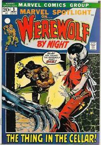 Marvel Spotlight #3, Marvel 1972 2nd app. Werewolf By Night, Mike Ploog FNVF