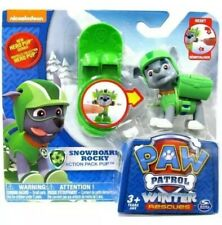 Paw Patrol Action Pack Hero Pup Series Winter Rescues Snowboard ROCKY Figure