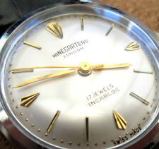 vintage men's *WINEGARTENS* of London 17 jewel Swiss mechanical wristwatch rare
