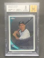 2010 Topps Chrome Mike Stanton ROOKIE RC AUTO #190 BGS 8 NM-MT