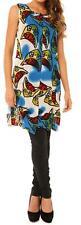 Cordelia St Women's Ladies Tunic Top Dress Sheer Light Fabric Printed Size 10