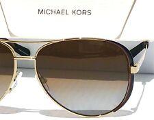 0262ecc0f9 NEW  Michael Kors MK5004 GOLD 59mm Aviator POLARIZED Gold Lens Women s  Sunglass