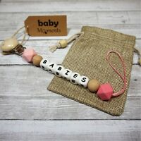 Pacifier clip Personalize Customized Name (5-6 letters) Baby Gift, teething