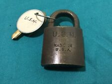 Antique Sargent Padlock w/ Key Blanks - GE1384 - Locksmith