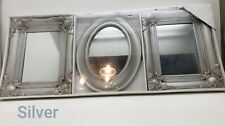 Set Of 3 Victorian Style Ornate Decorative Wall Hanging Mirrors Choose Color