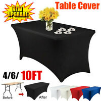 4610FT Wedding Table Cover Fitted Stretch Party Tradeshows Banquet  New