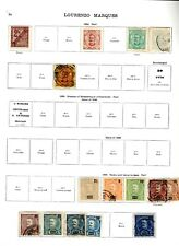 More details for lorenzo marques. 1894-1921. a collection of mint and used stamps.