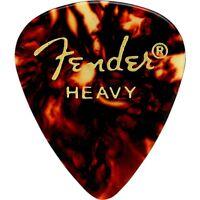Fender 351 Shape Classic Celluloid Guitar Picks Tortoise Shell Heavy (12-Pack)