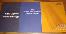 Original 1992 Chevrolet Caprice Police Taxi Sales Brochure Lot of 3 92 Chevy
