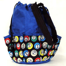 10 Pocket Bingo Bag Blue Bingo Ball Print
