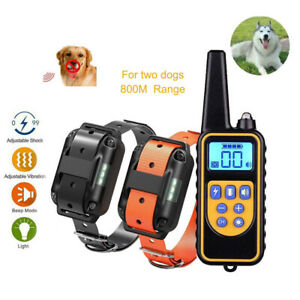 Rechargeable ECollar LCD Remote Control Electric Training Shock Pet for 3 Dogs