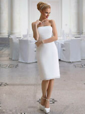 Estuche Vestido de Novia Encaje Chifón Registro Civil Marfil Crema 36-46