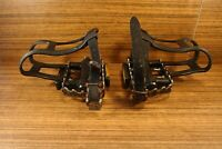 1990's MTB pedals Sakae made in Japan toe clips and toe straps