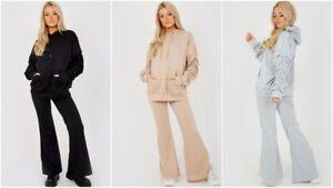 2Pcs Lounge Set Womens Boxy Ruched Sleeve Oversized Hooded Loungewear Tracksuit