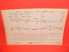 1949 1950 1951 FORD DELUXE CUSTOM CLUB COUPE SEDAN WAGON FRAME DIMENSION CHART