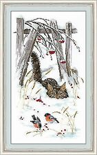 Counted Cross Stitch Kit GOLDEN HANDS - Adventures of a cat Basil