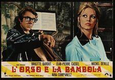 BEAR AND THE DOLL L'OURS ET LA POUPEE Italian fotobusta movie poster 3 BARDOT