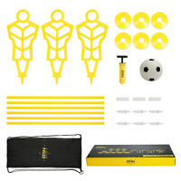 A11N Soccer Training Set 3 Mannequins 6 Passing Arcs 6 Disc Cones 1 Ball & Pump