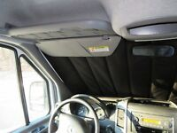 Mercedes Sprinter windshield pleated privacy curtains magnetic insulated nylon