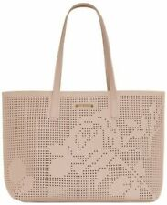 Vince Camuto Large Tote Bag Purse Weekender Shopping Perforated Rose Pattern