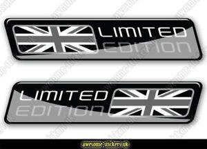 2 x UNION JACK flag stickers 006 MINI JAGUAR LANDROVER cars decals vinyl van